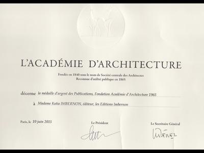 DIPLOME ACADEMIE D'ARCHITECTURE PARIS 2015