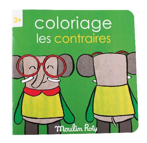 Cahier de coloriage les contraires les Popipop
