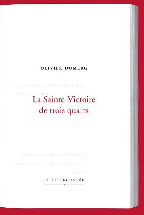 La Sainte-Victoire de trois quarts