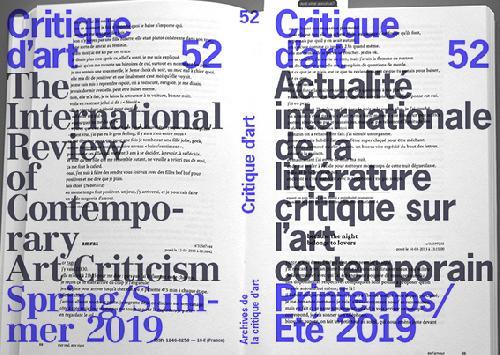 Critique d'art n°52
