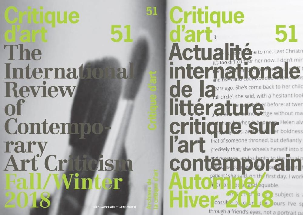 Critique d'art n°51