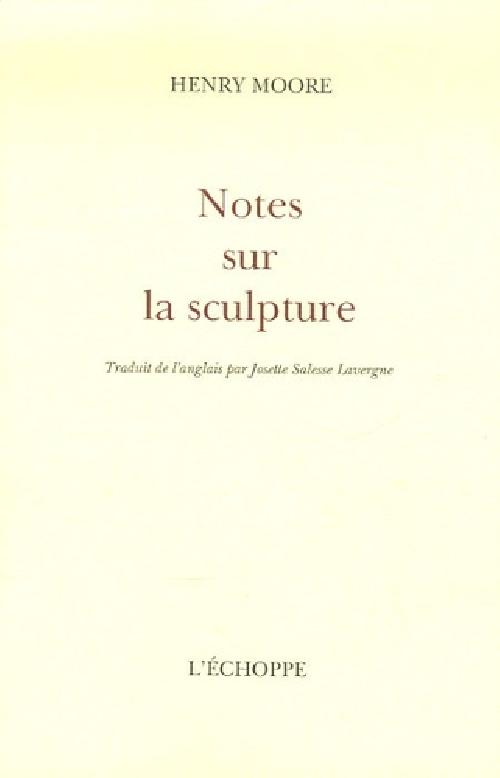 Notes sur la sculpture
