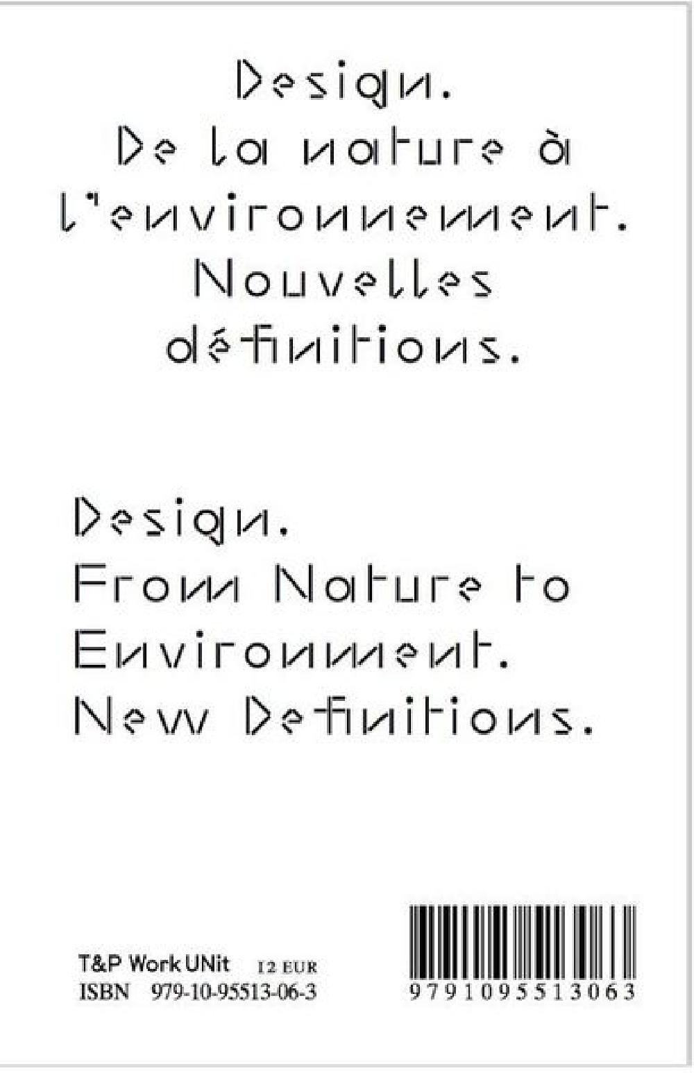 De la nature à l'environement nouvelles définitions