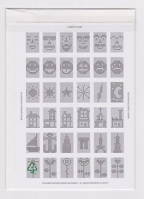 Cartes DOTSY Confetti Card ( Silver mat )