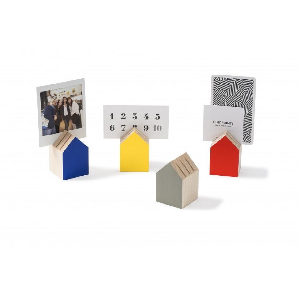 Tiny House Card Holder / Bauhaus Inspiration Color