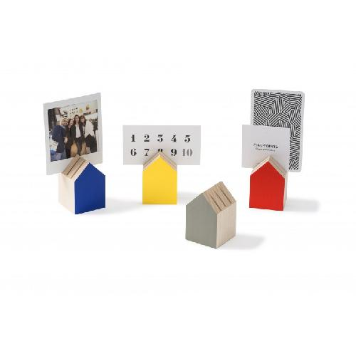 Tiny House Card Holder / Bauhaus Inspiration Color