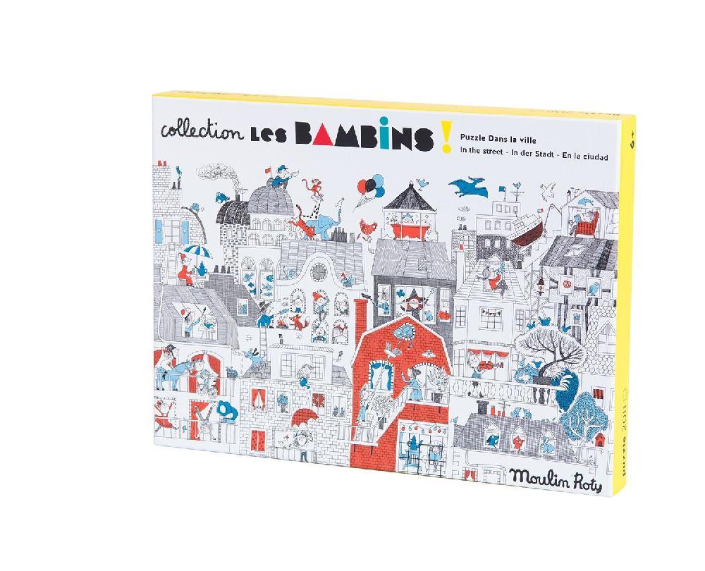 Puzzle Dans la ville 208 pièces Les Bambins