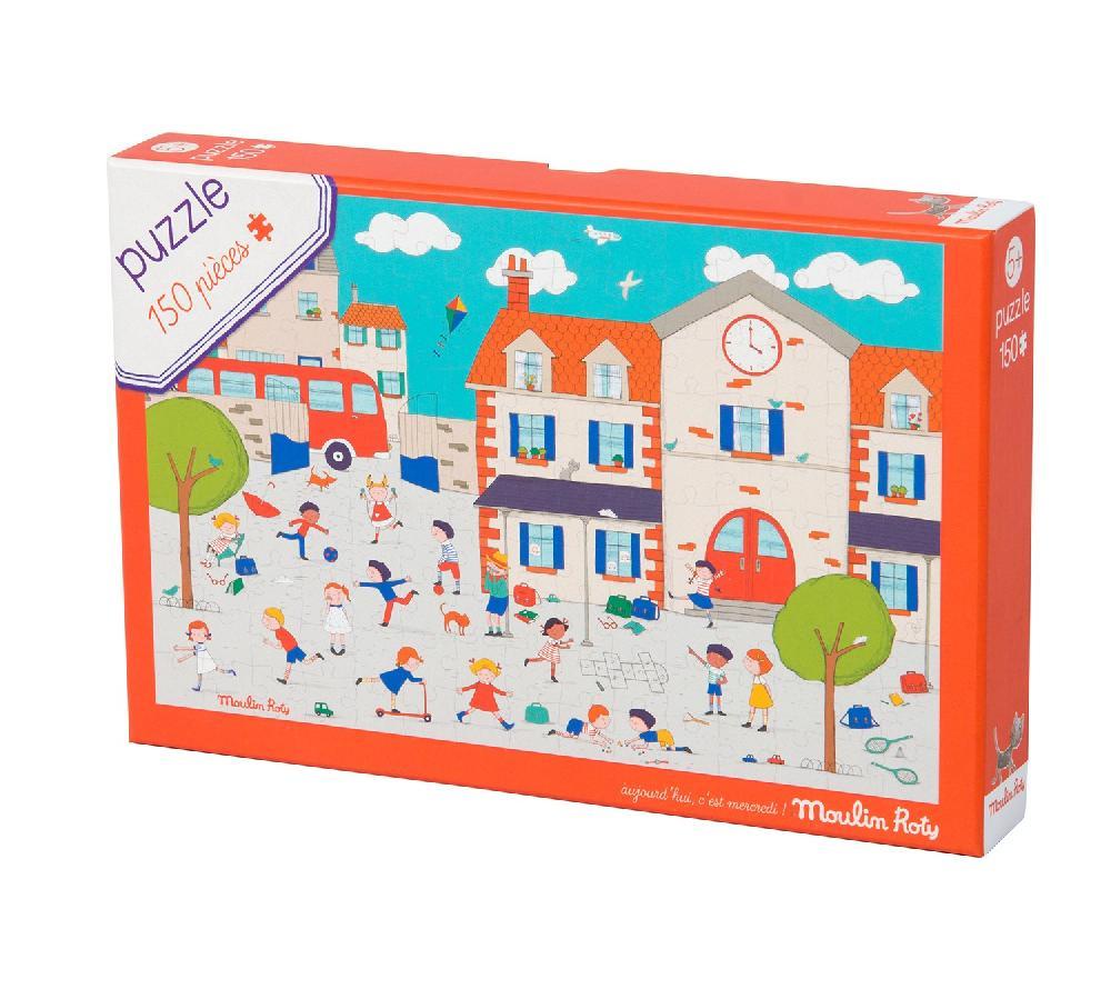 Puzzle A la récré 150 pièces Aujourd'hui c'est mercredi