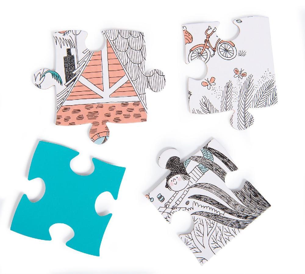 Puzzle Dans le jardin 56 pièces Les Bambins