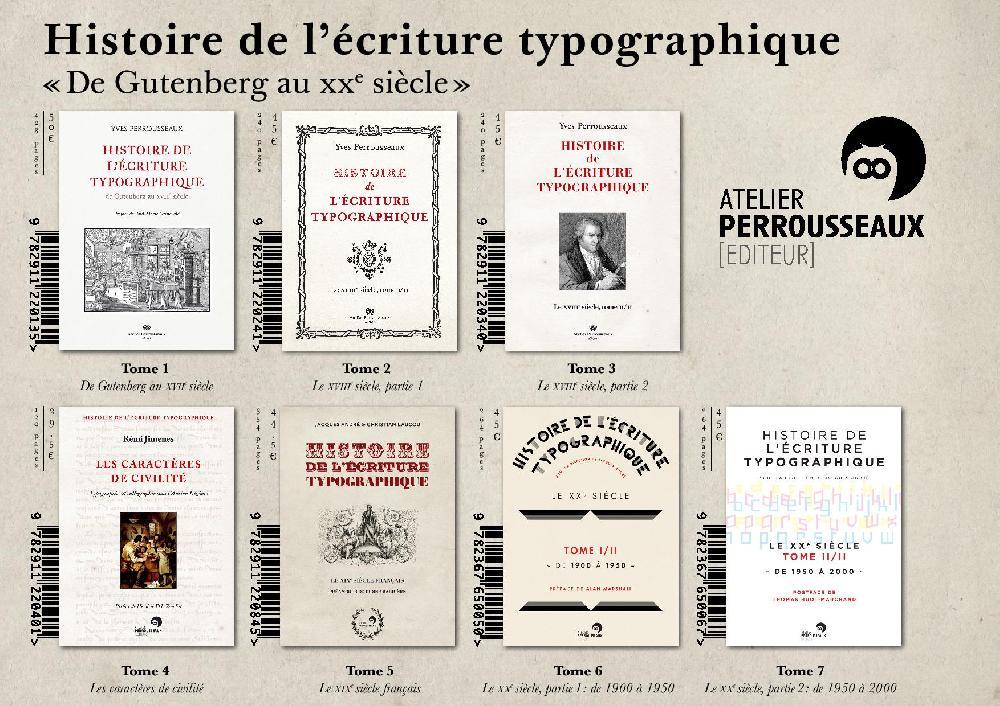 Coffret histoire de l'écriture typographique