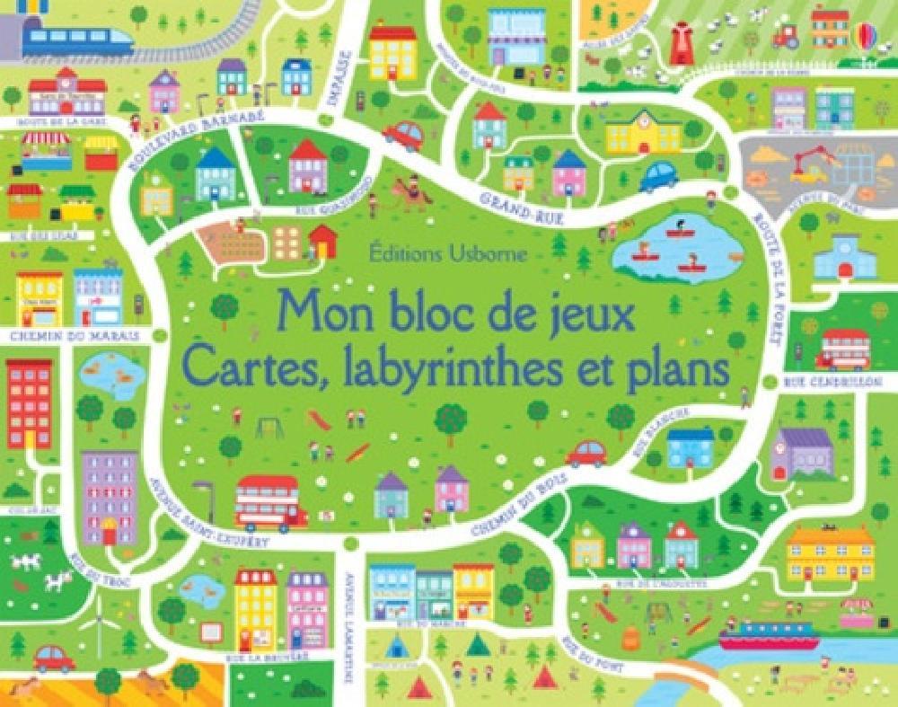 Mon bloc de jeux Cartes, labyrinthes et plans