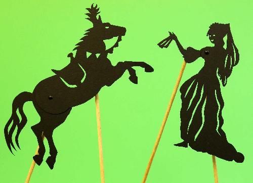 Silhouettes articulées - La princesse et le cheval