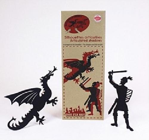Silhouettes articulées - Le dragon et le chevalier
