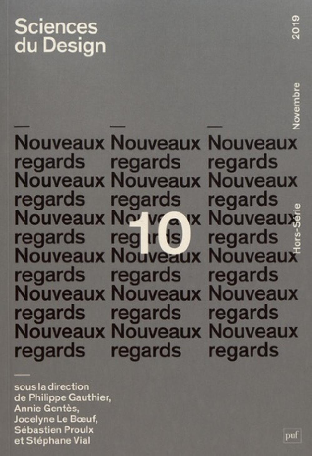 Sciences du design N°10 / Nouveaux regards