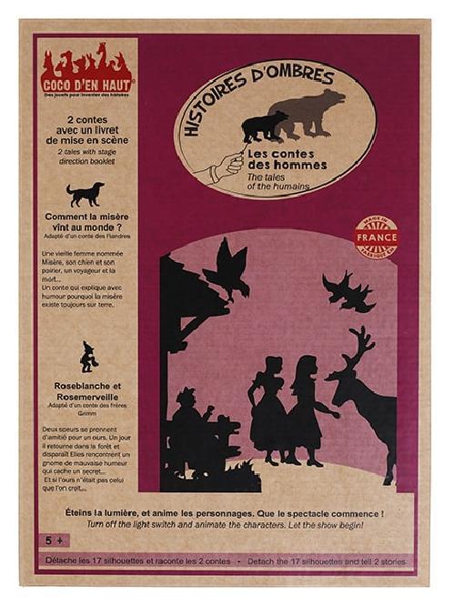 Pochette à histoires d'ombres - Les contes des hommes