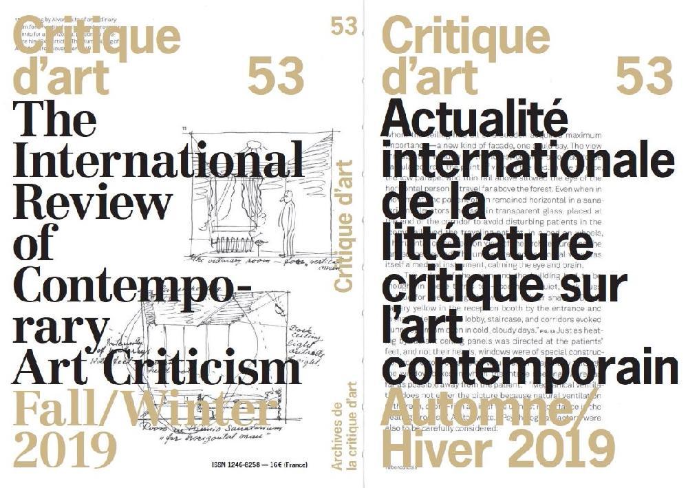 Critique d'art n°53