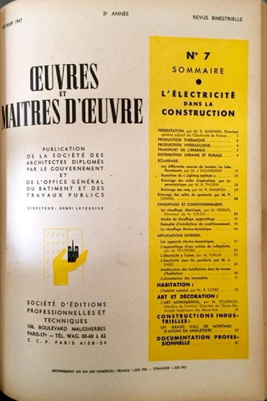 Oeuvres et Maitres d'oeuvres - L'électricité dans la construction