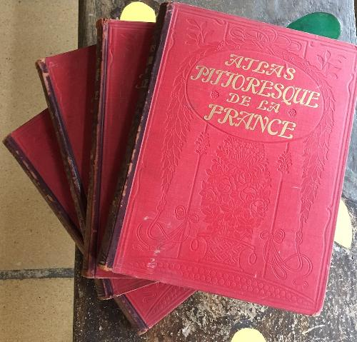 Atlas pittoresque de la France - 4 volumes
