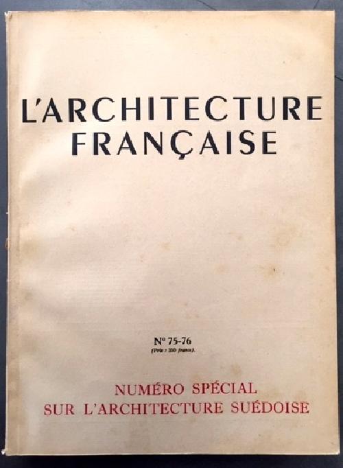 L'Architecture Française n°75-76