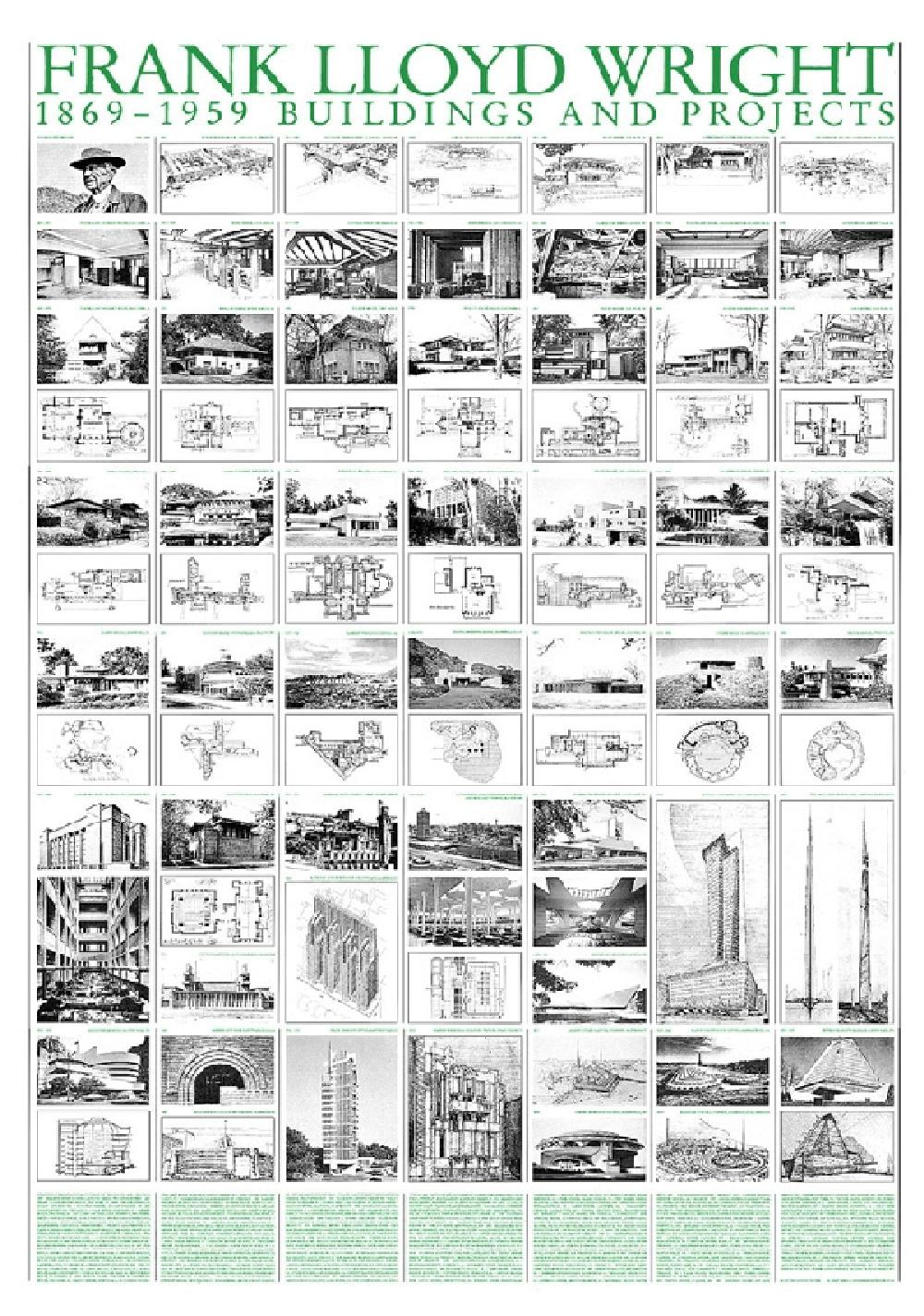 Frank Lloyd Wright - Buildings and Projects (Affiche)