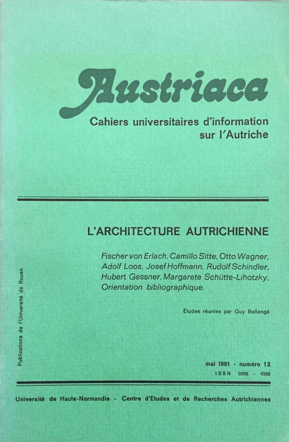 Austriaca n°12 - L'Architecture autrichienne
