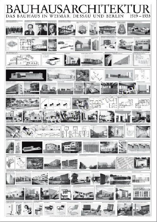Bauhaus architecture 1919 - 1933 (Affiche)