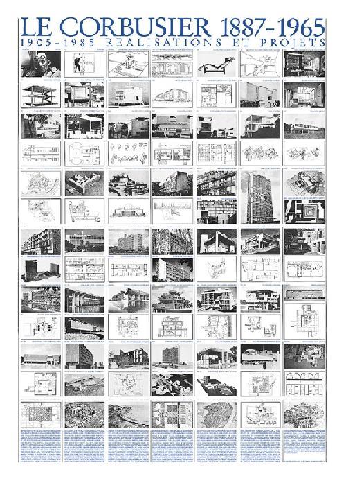 Le Corbusier - Réalisations et projets (Affiche)