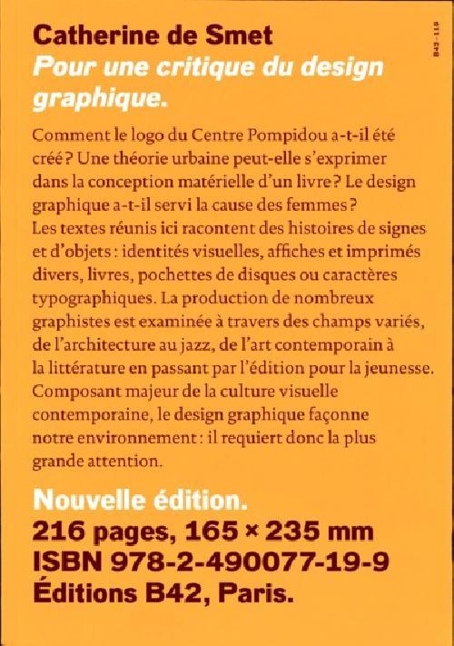 Pour une critique du design graphique - Édition 2020