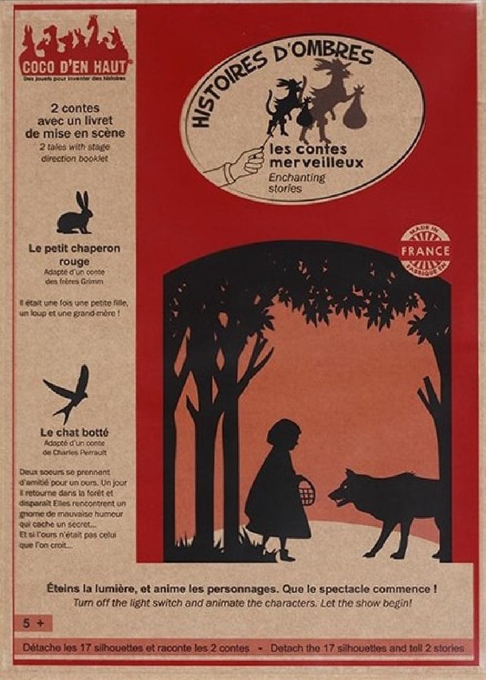 Pochette à histoires - Les contes Merveilleux 1  / Le petit Chaperon Rouge et Le Chat Botté
