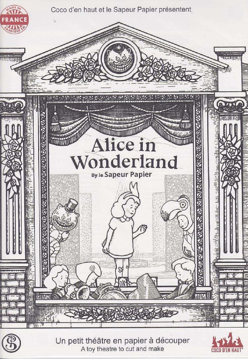 Théâtre papier Alice in Wonderland