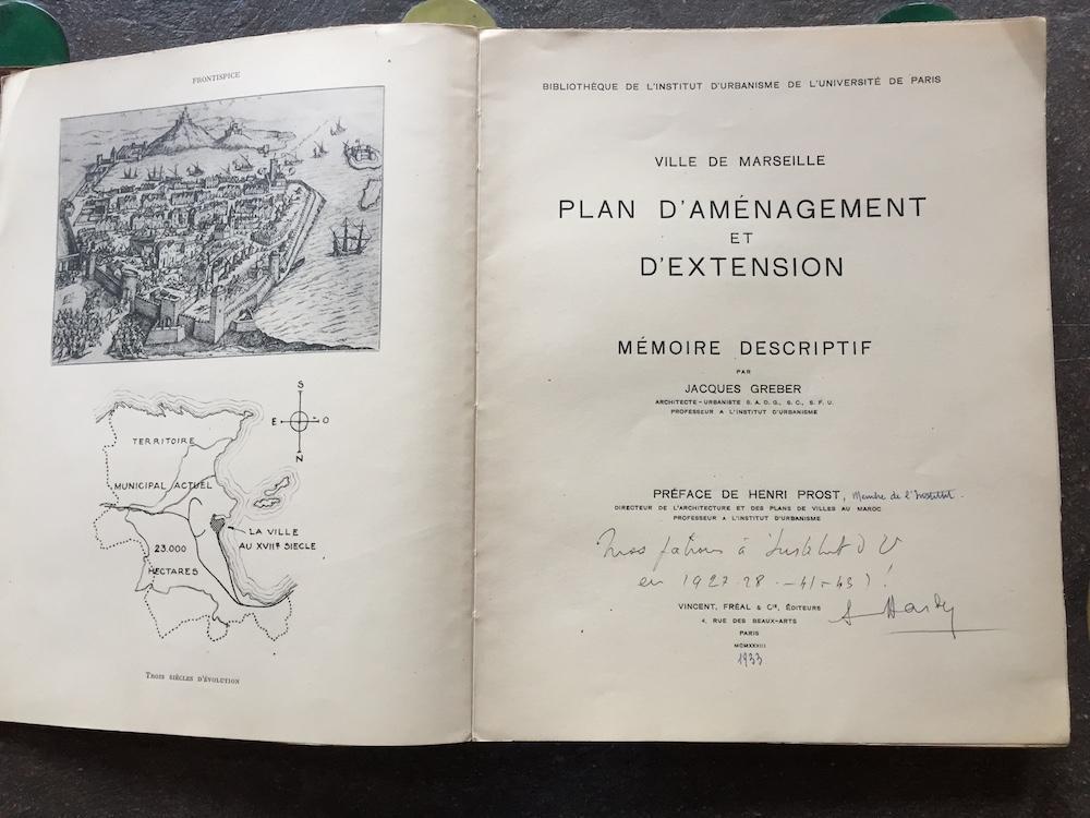 Plan d'aménagement et d'extension de la ville de Marseille. Mémoire descriptif