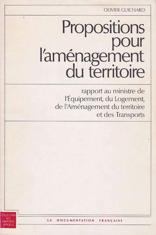 Propositions pour l'aménagement du territoire