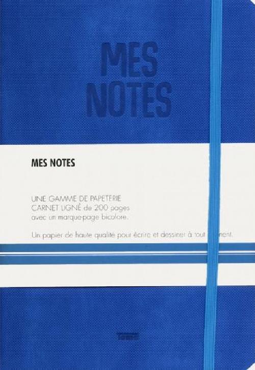 Notes cuir bleu electrique - Mes notes