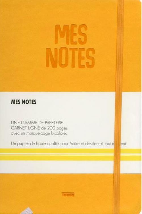 Notes cuir citron - Mes notes