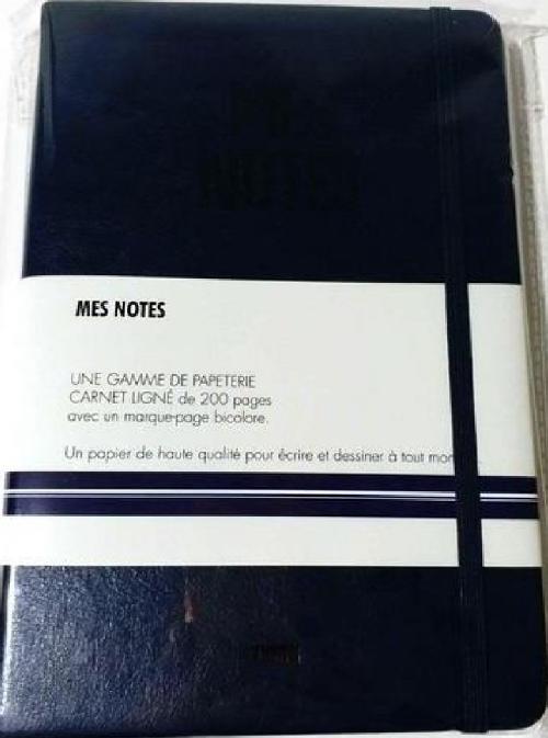 Notes cuir bleu de four