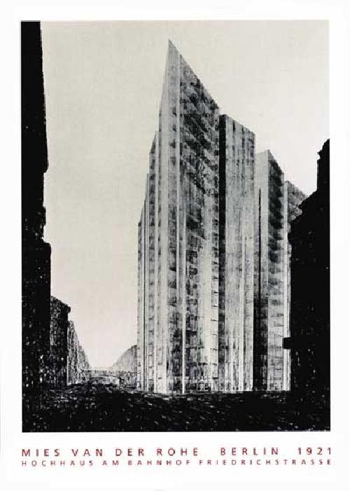 Mies van der Rohe - Hochhaus Friedrichstrasse Belin (Affiche)