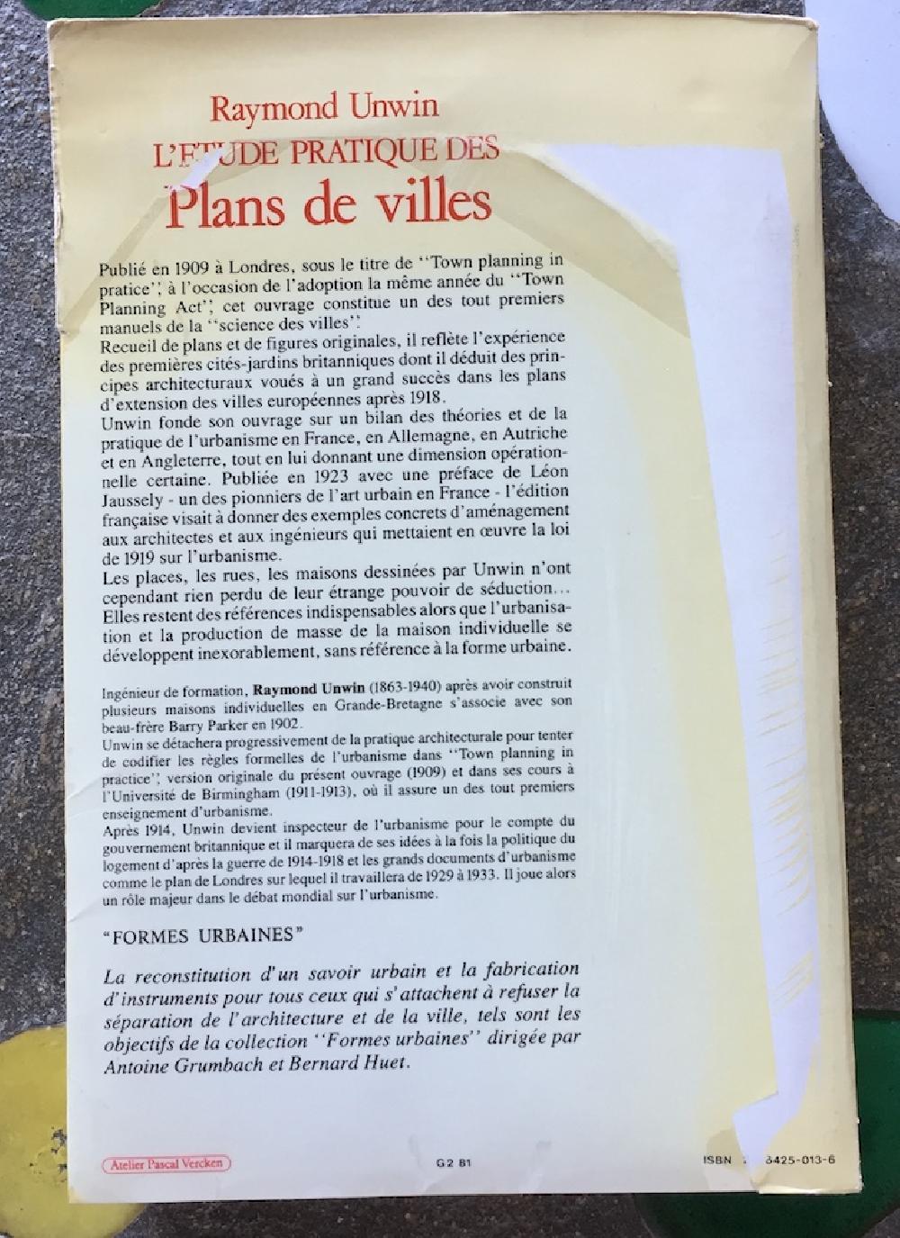 L'étude pratique des plans de villes