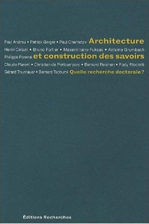 Architecture et construction des savoirs