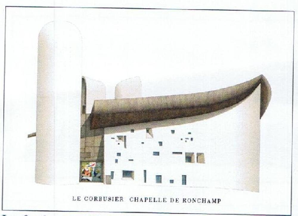 Le Corbusier Chapelle de Ronchamp (Affiche)