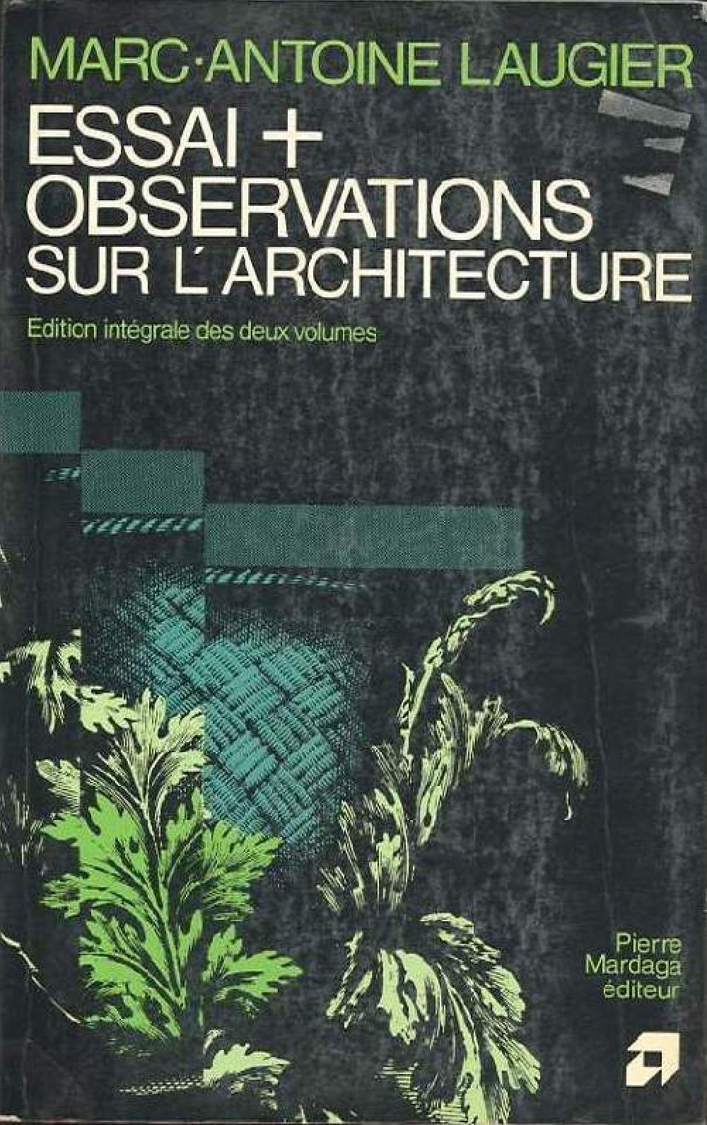 Essai + Observations sur l'architecture