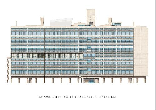 Le Corbusier - Unité d'habitation - Marseille (Affiche)