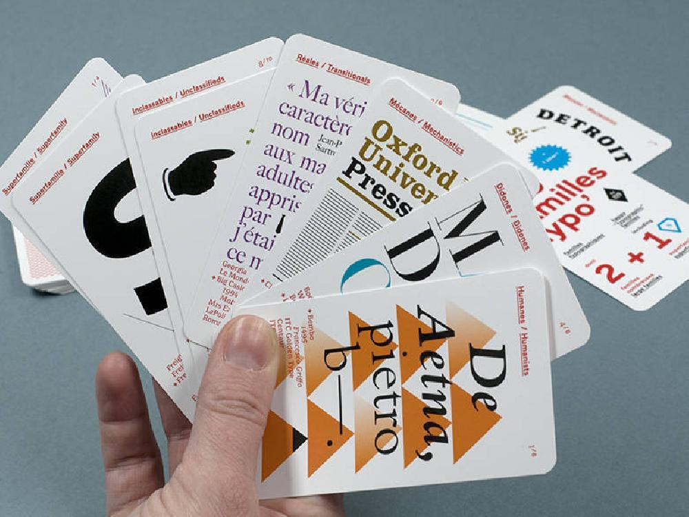 Jeu de 9 familles typographiques