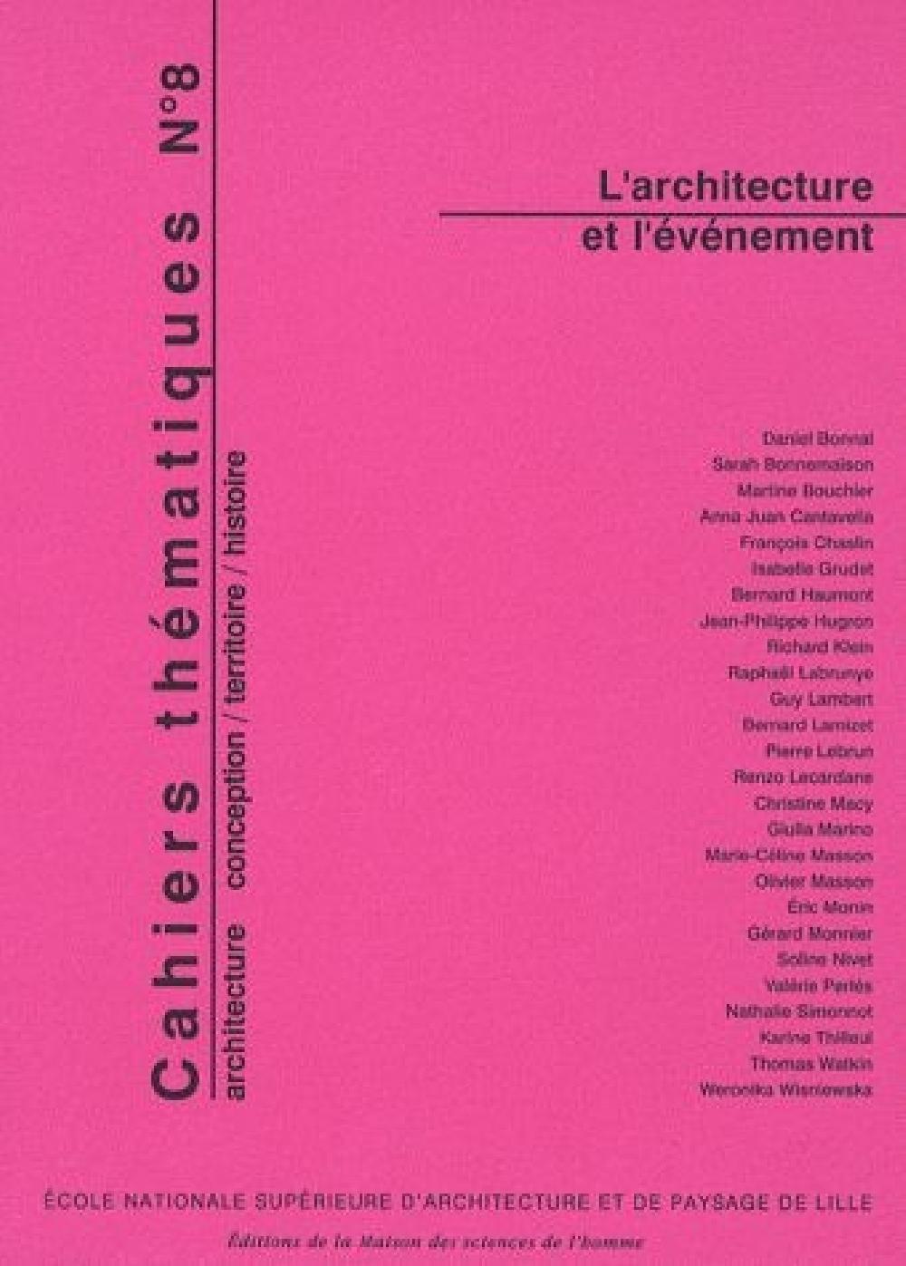 L'architecture et l'événement