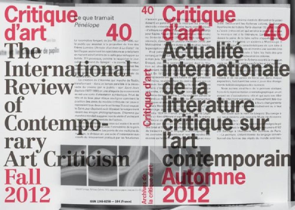 Critique d'art n°40