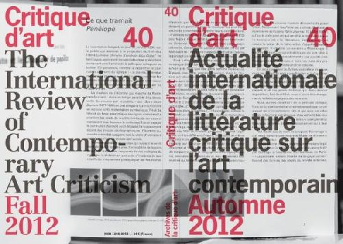 Critique d'art n°40
