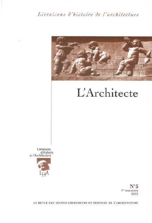 Livraisons d'histoire de l'architecture n°5