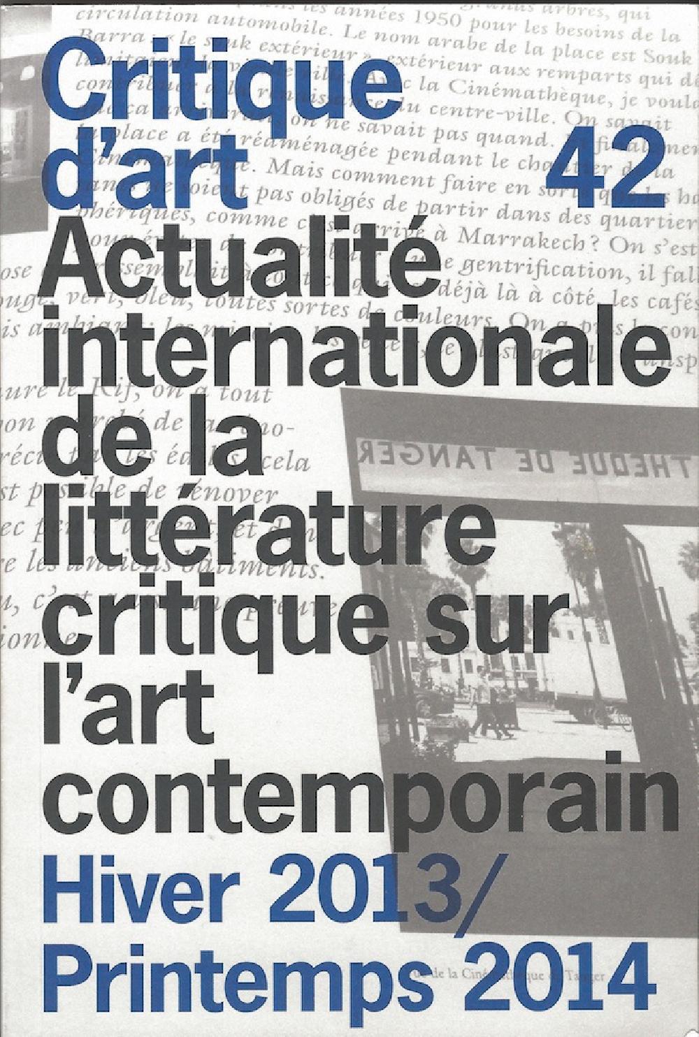 Critique d'art n°42