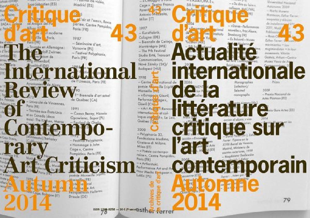 Critique d'art n°43