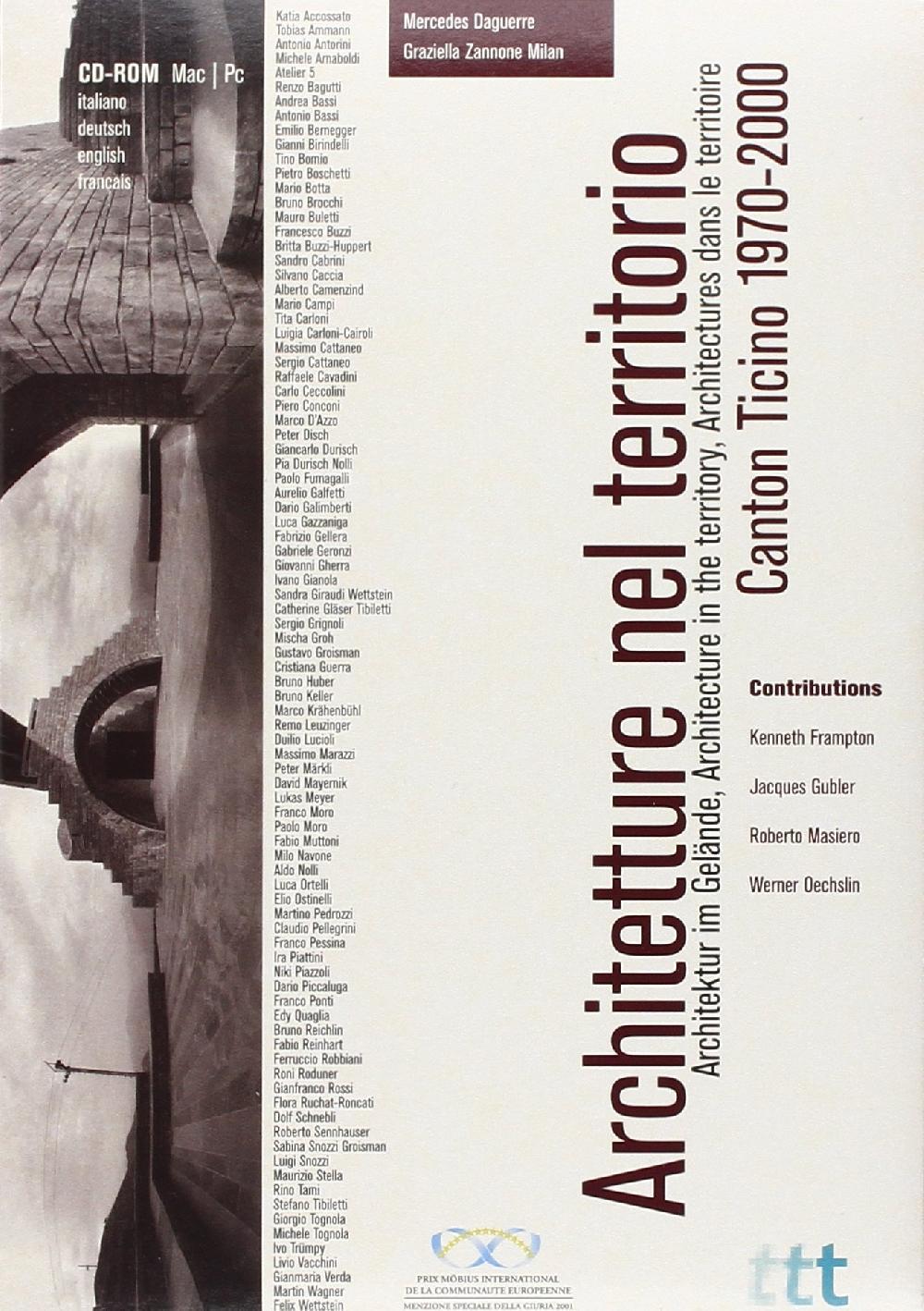 Architetture nel territorio, Canton Ticino 1970-2000