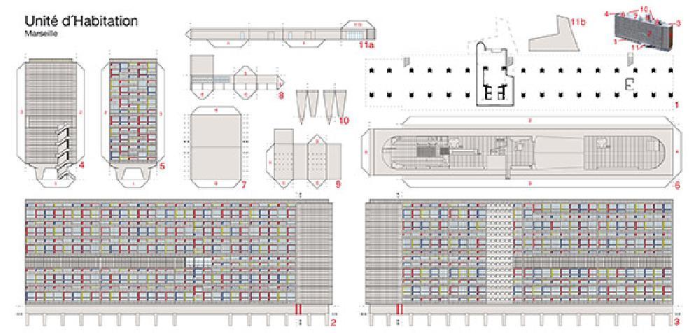 Postcard models Unité d'habitation